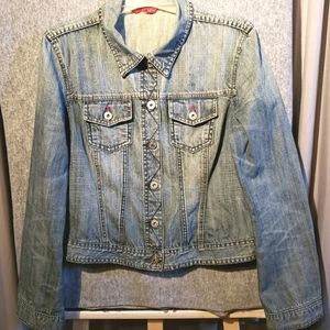 SMART SET Jean jacket with red accents
